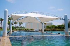 Tenda membran kolam renang