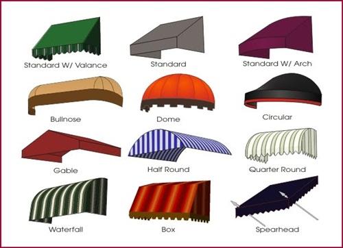 tipe dan bentuk kanopi kain